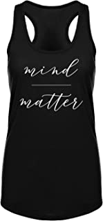 Mind Over Matter Motivational Quote Workout Exercise Racerback Tank Top for Women