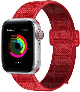 HILIMNY Compatible for Apple Watch Band 38mm 40mm 42mm 44mm, Soft Nylon Sport Loop, with Hook and Loop Fastener, Replacement Band Compatible for iWatch Series 1/2/3/4/5