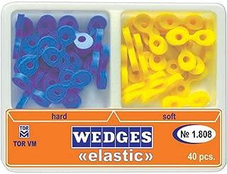 Dental Elastic Fixing Wedges Matrix Matrices Rubber Dam wooden Composite 40pcs
