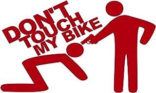 Folistick Dont Touch My Bike Pistole Aufkleber Dub OEM Motorrad Aufkleber (ROT)