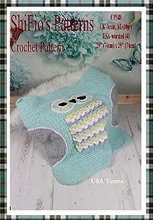 Crochet pattern - CP348 - baby owl afghan blanket -  USA Terminology