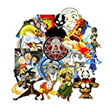 GTOTd Stickers for Avatar The Last Airbender (20-Pcs Large Size) Gifts Decals The Last Airbender Gifts Merchandise for Laptop,Waterbottle Figure Collection
