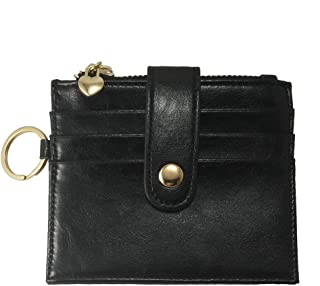 Womens Cute Card Case RFID Card Holder Small Leather Wallet with ID Window and Keyring