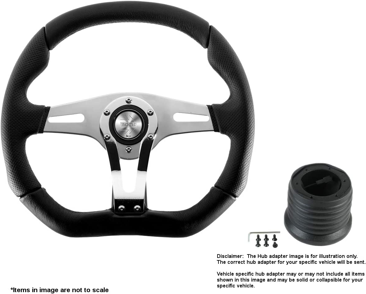 MOMO Dallas Mall Trek R 350mm 13.78 Inches w Leather Steering Wheel Selling Brushe
