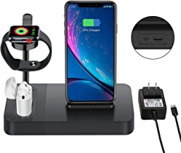 Wireless Charger Station for Watch Stand 3 in 1 Airpods Charger Qi 7.5W Wireless Charging Dock Compatible with i Phone X XS 8 Plus etc. (Included AC Power Adapter)