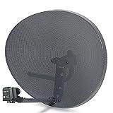SSL Satellites Zone 2 Satellite Dish & Compatible Sky Q Hybrid LNB