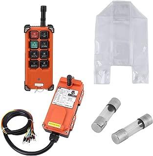 Akozon ワイヤレスリモコン 24VDC ホイストクラウンブロック 1スピード無線制御システム リモコン 受信機セット