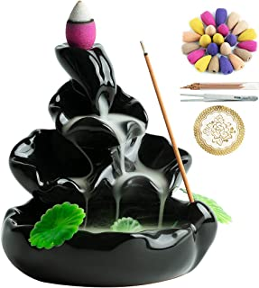 Spring Backflow Incense Burner Waterfall Incense Holder for Home Decor Aromatherapy Ornament