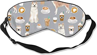 Akita Coffee Grey 100% Silk Sleep Mask Comfortable Non-Toxic, Odorless and Harmless,Soft Blindfold Eye Mask Good for Travel and Sleep