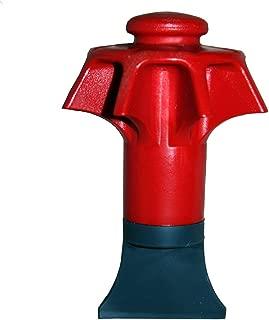 DANCO Disposal Genie Garbage Disposal Strainer   Kitchen Sink Drain Splash Guard   Food Scraper   Red (10451)