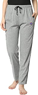 VIMAL JONNEY Women's Regular Fit Cotton Track Pants   Lower  Pajama  Lounge Pant for Women-D1_Anthra_01
