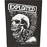 Exploited Men's Vintage Skull Back Patch Black