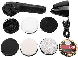 JULYKAI Polisseur de Chaussures électriques, Brosse à Chaussures électrique Rechargeable USB, Polisseur de Chaussures en C...