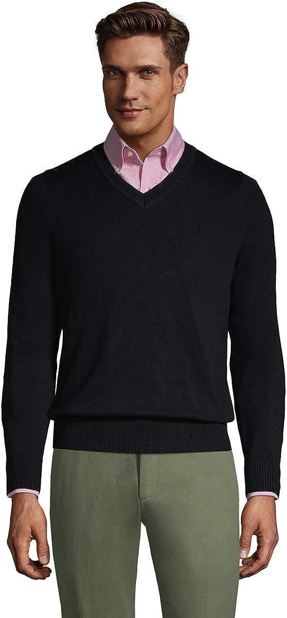 Lands' End Men's Cotton Modal V-Neck Sweater