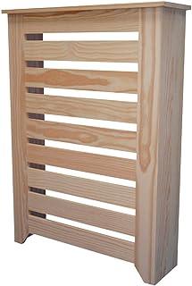 Cubre radiador madera. En crudo para decorar. Pino macizo. Medidas(ancho/fondo/alto): 66.5*20*92 cms. Interiores: 60*17*90 cms. Con rebaje para rodapié.También hacemos a medida. Consultar.