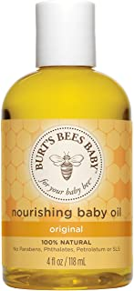 Burt's Bees Baby Nourishing Baby Oil, 100% Natural Baby Skin Care - 4 Ounce Bottle