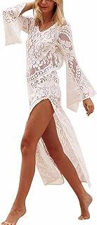 BIUBIU Women's Backless Lace Beach Holiday Maxi Cover Up Dress