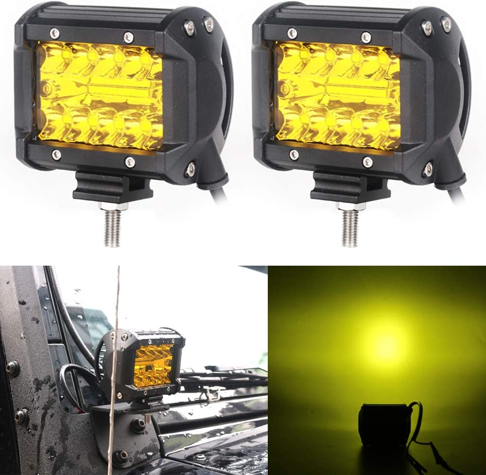Credence HOZAN 4 Inch Cube Max 49% OFF Triple Row Light Bar LED Offroad Driving Pods