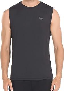 TAIBID Men Running T-Shirt Active Workout Jogging Sports O-Neck Tank Tops