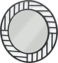 Now House by Jonathan Adler Grid Wall Mirror, Black