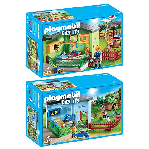 PLAYMOBIL® City Life 2er Set 9276 9277 Katzenpension + Kleintierpension