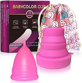 comprar comparacion Copa Menstrual - copa menstrual más recomendada-Incluye una bolsa de regalo - Silicona suave reutilizable de grado medicin...