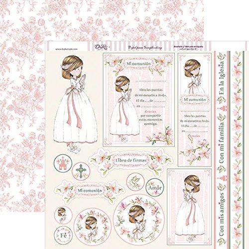 Dayka Trade Papel Scrapbooking Dayka Primera comunión niña Rezando