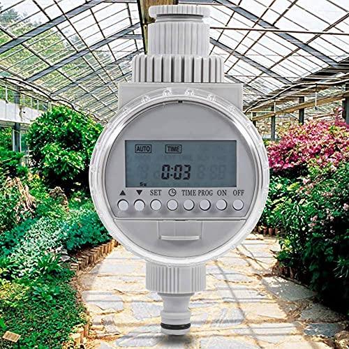 WQJJ Programador Riego Automatico con Protectora Impermeable,Temporizador Riego Digital para Jardín con Pantalla LED, Bajo Consumo, Función de Memora