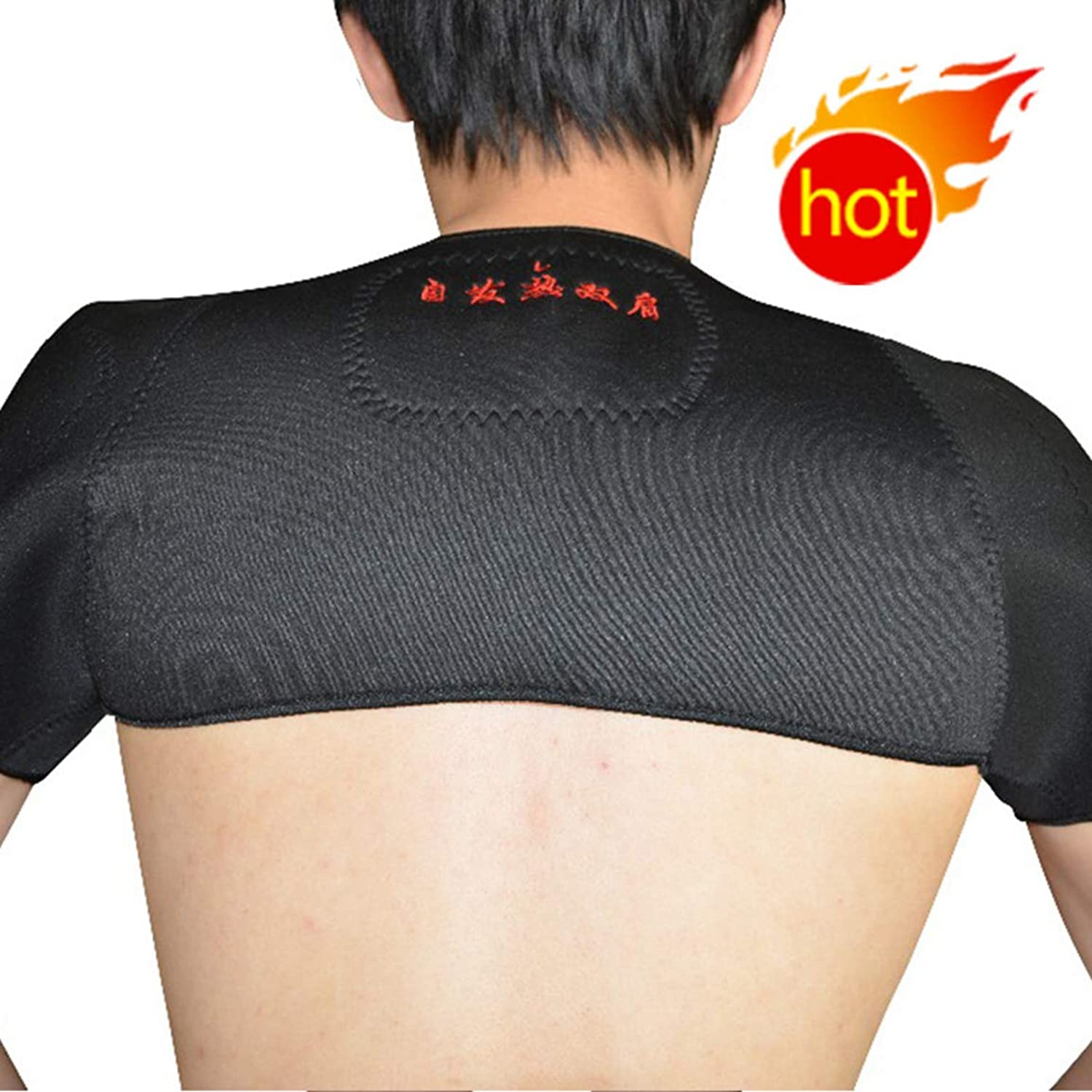 Shoulder Support Predection Brace Magnetic Tourmaline Heating Wrap Therapy Tourmaline Heat