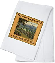 Foothill Oranges Brand - Sierra Madre, California - Citrus Crate Label (100% Cotton Kitchen Towel)