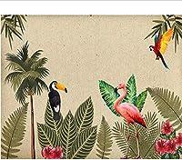 Bosakp カスタム壁紙3D壁画レトロな熱帯雨林のリビングルームの寝室の背景壁画3D壁紙 240X155Cm