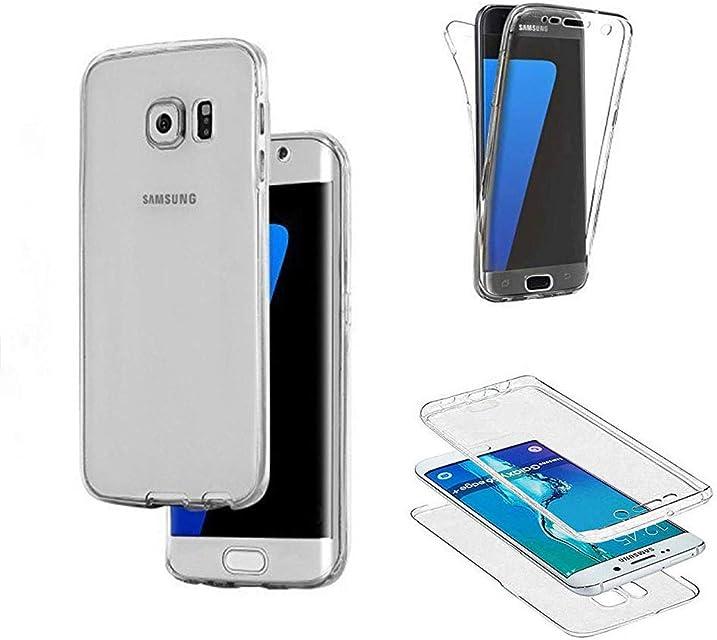 SevenPanda Samsung Galaxy Note 8 2017 Case Silicona Clear 360 Grados [OneFlow Double Cover] Cubierta del teléfono Celular Clear Funda Protectora Caso - Blanco