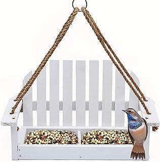 Homes Garden Adirondak Chair Bird Feeder for Outside Outdoor Wooden Bird Feeder Swing Chair Wild Bird Feeder Porch Decorative #G-8455