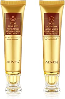 (2 pack) TCM Scar and Acne Marks Removal Gel, Anti-inflammatory Sterilization - Scars, Burns, Stretch Marks, Acne Spots, Skin Redness Treatment Cream Ointment, Skin Repair for Face and Body (2 Pack)