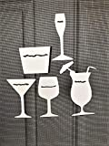 DCentral Cocktails Anyone? Flexible Screen Magnet Decor; Double-Sided, for Non-Retractable Screens, Helps to Stop Walking into Screens, Covers Small tears in Screens, Avg Sizes W 2.5 x 3.5'