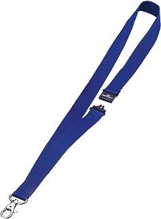 Durable 813707 Lacet Textile Universel avec Ouverture Mousqueton et Sécurité Anti-traction Longueur Porté 44 cm Coloris Bl...