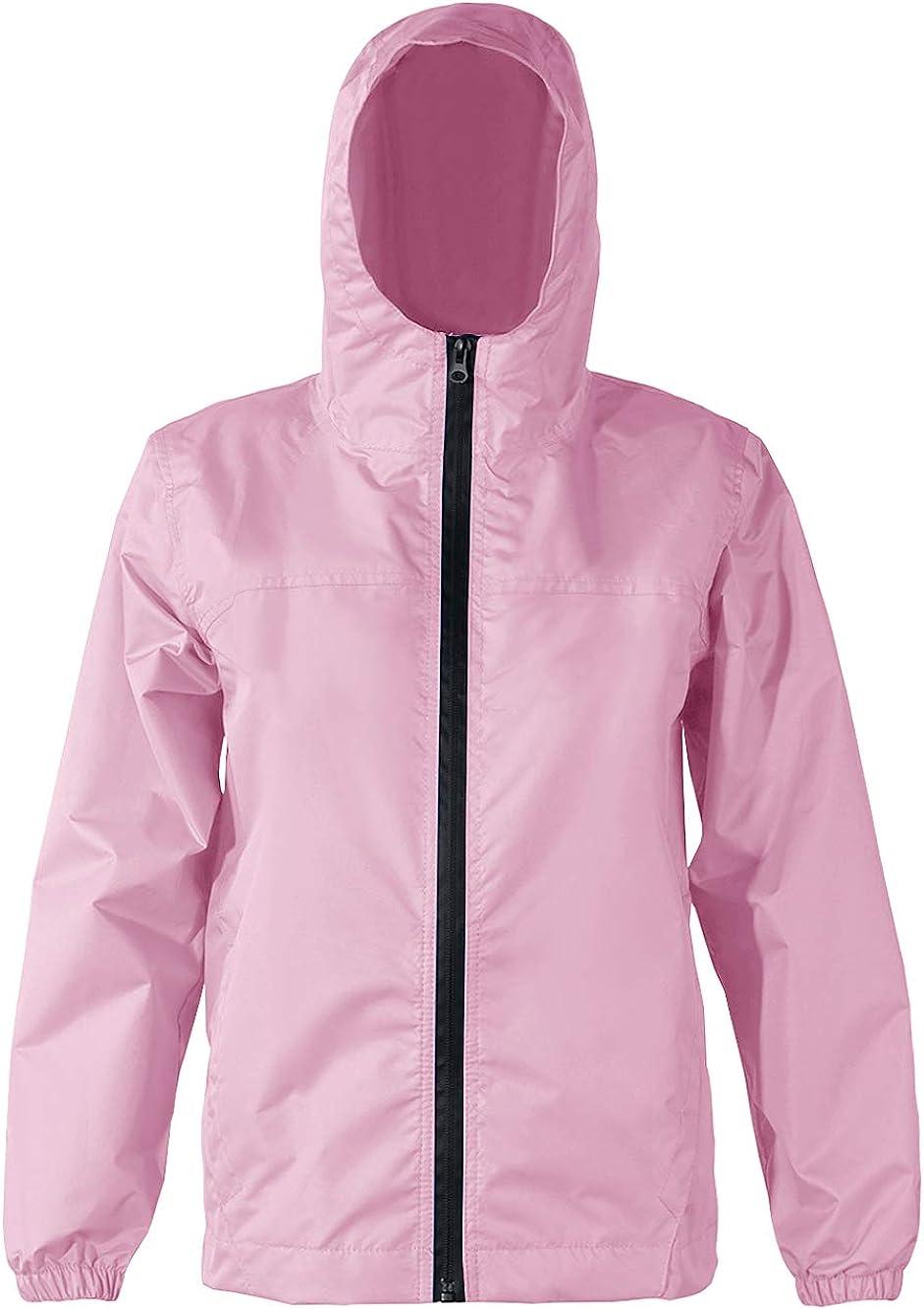Kids Rain Jacket Waterproof Raincoats with Pockets