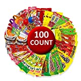 Mexican Candy Mix Assortment Bag ( 100 count) Variety of Spicy, sour and sweet Dulces Mexicanos Gift Box, Best sellers Such as Lucas, Pelon, Duvalin, Rockaleta, salsaghetti, Pulparindo By Vexillum