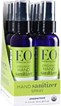 EO Hand Sanitizer Spray: Organic Peppermint, 2 Ounce, 6 Count