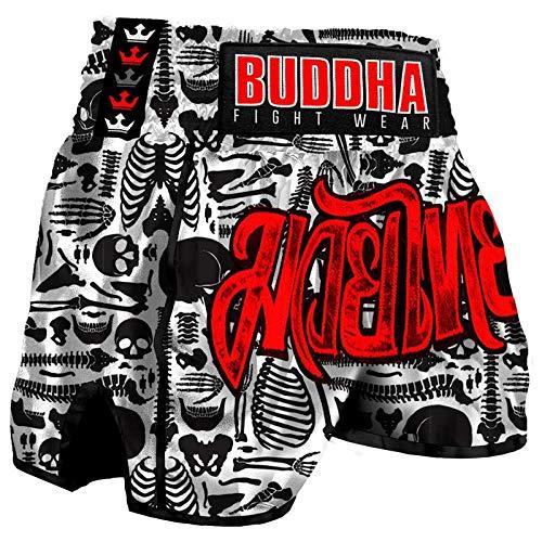 Pantalón Muay Thai Kick Boxing Buddha Retro Skeletor