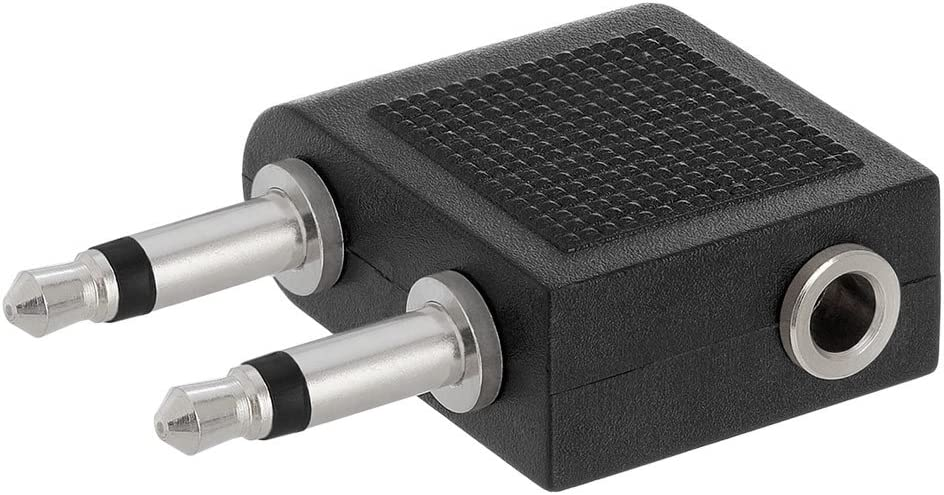 2x3.5mm Mono Plug to 3.5mm Stereo Jack Adapter 100 Pack
