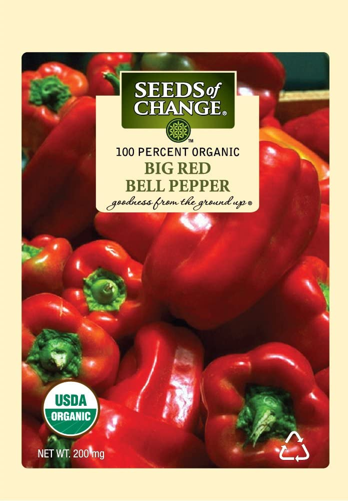 Seeds Of Change 6994 Certified Organic Pepper Sweet Big Red