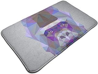 HUTTGIGH - Felpudo con diseño geométrico de gorila para puerta de entrada, antideslizante, alfombra de baño de cocina de 1...