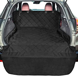 F-color SUV Cargo Liner for Dogs, Upgraded Extra Large Waterproof Pet Cargo Cover Dog Seat Cover Mat for SUVs Sedans Vans with Bumper Flap Protector, Non-Slip, Wear-Proof, Universal Fit