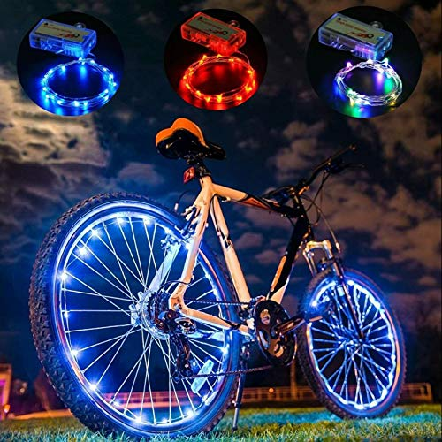 Dancevoval Christmas Lights LED Bicycle Bike Cycling Rim Lights Auto Open & Close Wheel Spoke Light String