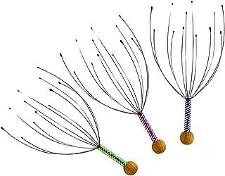 Massageador de couro cabeludo portátil Rosenice, cabeça de arame, perfeito para relaxar o cabelo (3 pacotes)