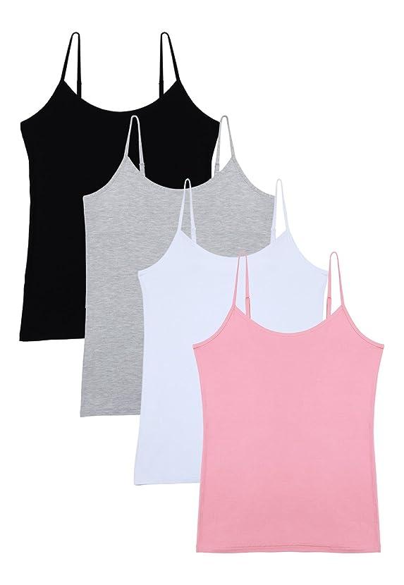 Vislivin Women's Basic Solid Camisole Adjustable Spaghetti Strap Tank Top