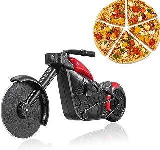 shuny-Cuchillo de Pizza de Motocicleta Exquisito, Cuchillo de plástico de Acero Inoxidable de Motocicleta, Cuchillo de Rodillo de Pizza de Rueda Delantera de Motocicleta