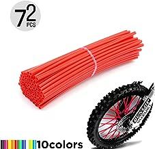 Micro Trader 72pcs Motocross Motorcycle Dirt Bike Enduro Wheel Rim Spoke Wraps Skins Covers 17cm