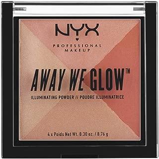 NYX PROFESSIONAL MAKEUP Away We Glow Illuminating Powder, Summer Reflection, 1.2 Ounce
